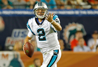 Jimmy Clausen failed to capitalize on Cam Newton's struggles