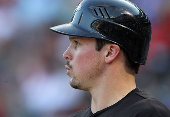 ARLINGTON, TX - JULY 22:  Travis Snider #45 of the Toronto Blue Jays at Rangers Ballpark in Arlington on July 22, 2011 in Arlington, Texas.  (Photo by Ronald Martinez/Getty Images)