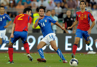 Aquilani has become a regular with the Italian national team