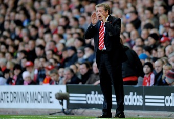 Hodgson often cut a lonely figure during his difficult spell with Liverpool