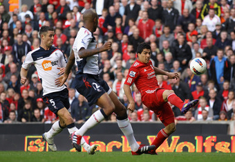 Luis Suarez was a constant nightmare for the Bolton defence