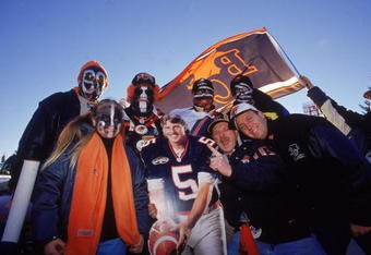 26 Nov 2000:  A general view of the British Columbia Lions fans posing with a cutout during the Grey Cup 2000 game against the Montreal Alouettes at the McMahon Stadium in Calgary, Alberta, Canada. The Lions defeated the Alouettes 28-26.Mandatory Credit: