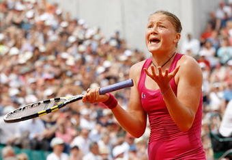 Safina upset after loss of point at 2010 French Open
