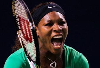 Serena pumps herself up in Toronto