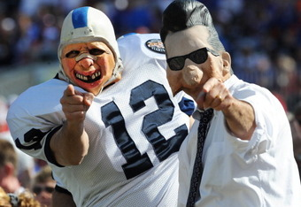 TAMPA, FL - JANUARY 1:  Fans of the Penn State Nittany Lions cheer play against the Florida Gators January 1, 2011 in the 25th Outback Bowl at Raymond James Stadium in Tampa, Florida.  (Photo by Al Messerschmidt/Getty Images)