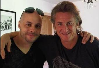 Ed meets Sean Penn...though he'd probably rather be fishing