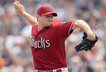 SAN FRANCISCO, CA - SEPTEMBER 04:  Daniel Hudson #41 of the Arizona Diamondbacks pitches against the San Francisco Giants at AT&T Park on September 4, 2011 in San Francisco, California.  (Photo by Ezra Shaw/Getty Images)