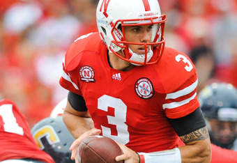 LINCOLN, NE - SEPTEMBER 03: Taylor Martinez #3 of the Nebraska Cornhuskers during their game against the Chattanooga Mocs at Memorial Stadium September 3, 2011in Lincoln, Nebraska. Nebraska won 40-7. (Photo by Eric Francis/Getty Images)