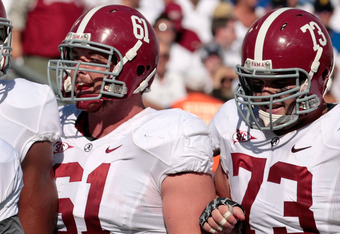 Alabama continues to work on the offensive line