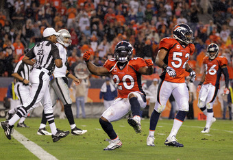 Brian Dawkins led an imperfect, yet inspired defense against the Oakland Raiders on Monday Night Football.