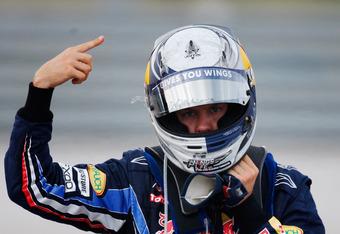 Vettel in Turkey, 2010 - not his finest moment.