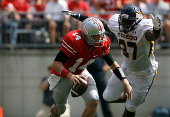 It was a rough day for Ohio State QB Joe Bauserman.