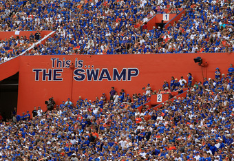 GAINESVILLE, FL - SEPTEMBER 17:  A general view of Ben Hill Griffin Stadium as seen during a game between the Florida Gators and the Tennessee Volunteers at Ben Hill Griffin Stadium on September 17, 2011 in Gainesville, Florida.  (Photo by Sam Greenwood/G