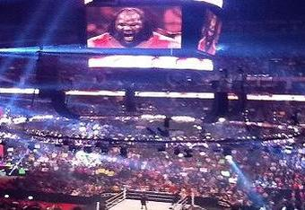 The frightening Mark Henry, sorry about the zoom pic taken with iPad
