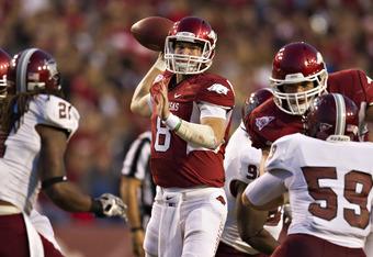 Tyler Wilson looks to snap Alabama's wining streak over the Hogs.