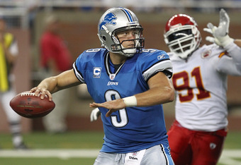 Stafford is tied for the league lead with seven touchdown passes.