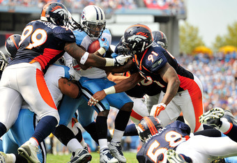 The Broncos defense kept Chris Johnson and the run game in check.