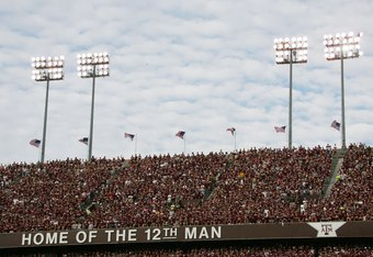 COLLEGE STATION, TX - OCTOBER 14:  A general view of Kyle Field is shown during the Texas A&M Aggies game against the Missouri Tigers at Kyle Field on October 14, 2006 in College Station, Texas. Texas A&M won 25-19. (Photo by Ronald Martinez/Getty Images)