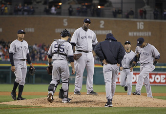 Right now it is uncertain if Sabathia will start at Comerica Park or at Yankee Stadium for his next playoff start