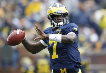 Backup Michigan quarterback Devin Gardner