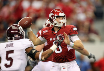 Tyler Wilson set a school record for passing yards against A&M.