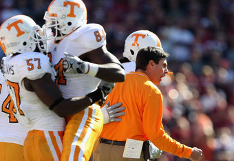 Coach Derek Dooley has led his 2011 team to 3-1 with a loss to Florida so far in 2011