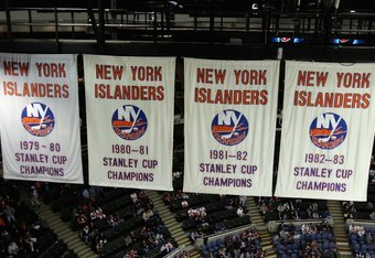 Four Stanley Cup Banners preside at the Nassau Coliseum, a place opponents hate to come and play.