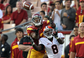 USC WR Robert Woods had only five receptions against Cal last week after an incredible first five games