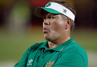 Notre Dame coach Brian Kelly watched the USC-Cal game as a TV commentator and has had two weeks to prepare for USC