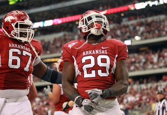 Broderick Green has added power running for the Hogs.