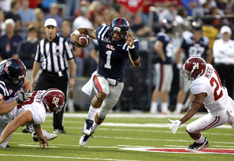 Randall Mackey takes over as starting QB for the Rebels.