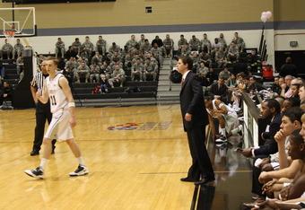 Army basketball plays in Patriot League (K. Kraetzer)