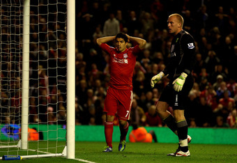 Luis Suárez was a study in frustration as the striker's wasteful display was emblematic of Liverpool's struggles against Norwich.
