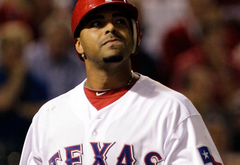 Nelson Cruz, one of the batters walked by Jackson