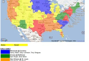 NFL TV Schedule Week 8: Coverage Maps for All CBS and Fox NFL Action Cbs Nfl Tv Coverage Map on