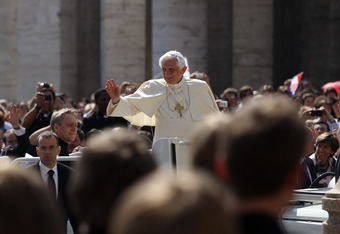 Yes Pope Benedict, 10 hail Mary's.