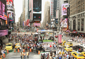 The energy of Times Square could breathe some life into the Big East.