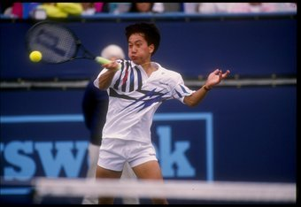 6 Mar 1992:  Michael Chang swings at the ball during the Newsweek Champions Cup in Indian Wells, California. Mandatory Credit: Stephen Dunn  /Allsport