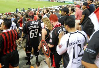 DC United fans may be the most rabid in MLS. Photo by Mike Frandsen.