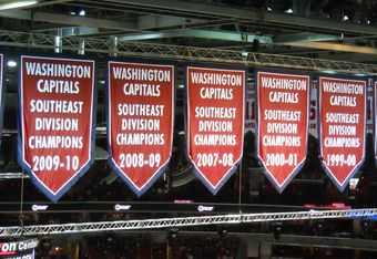 Caps fans support the most underachieving playoff team of all time. Photo by Mike Frandsen.