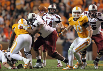 Connor Shaw in action against Tennessee.