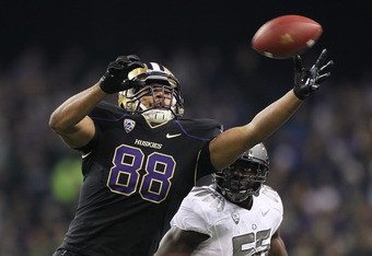 Tight end Austin Seferian-Jenkins had one reception for -6 yards against Oregon