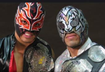 These guys, without masks, and with a bad attitude. Awesome!