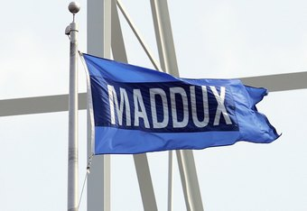 CHICAGO - APRIL 17: A Maddux flag flies on a pole during the game between the San Diego Padres and the Chicago Cubs on April 17, 2007 at Wrigley Field in Chicago, Illinois. The Padres defeated the Cubs 4-3 in 14 innings. (Photo by Jonathan Daniel/Getty Im