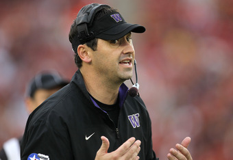 Washington head coach Steve Sarkisian needs to find his offense and fast