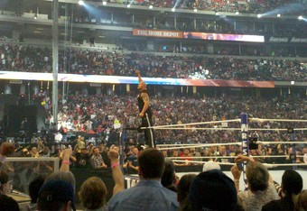 The Rock at Wrestlemania 27 (Photo taken by Micheal Robinson)