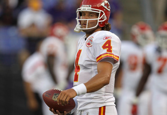 Chiefs' QB Tyler Palko will be making his first career NFL start against New England.