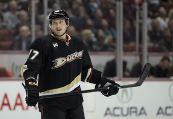 Lubomir Visnovsky is one of a handful of players to have played for both Los Angeles and Anaheim, also including George Parros, Dustin Penner and Jason Blake.