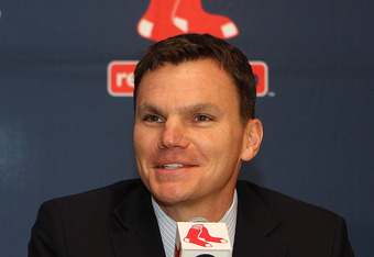 BOSTON, MA - OCTOBER 25:  Ben Cherington smiles after he was named the Executive Vice President/ General manager of the Boston Red Sox at Fenway Park October 25, 2011 in Boston, Massachusetts. (Photo by Jim Rogash/Getty Images)