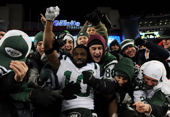 Jets fans have had very few proud moments, like this one after beating New England in the 2010 playoffs, but even this was shortlived as the Jets lost the next week to Pittsburgh in the AFC Championship game.
